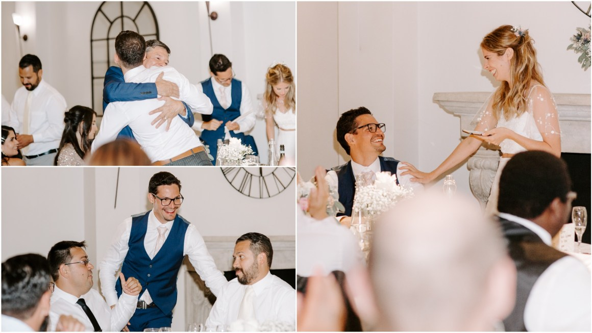 Fun wedding speech photography