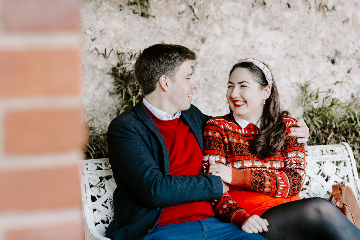 Fun Oxfordshire engagement shoot