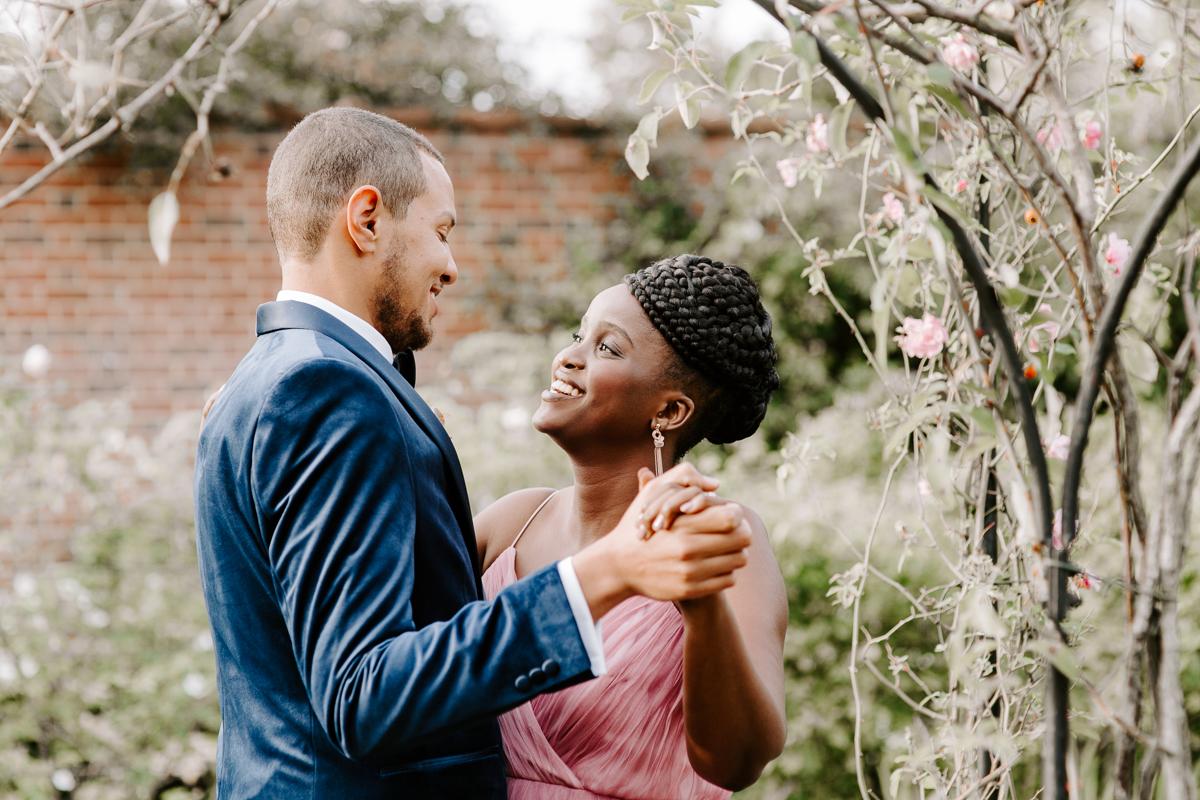 Wedding portraits at Valentines Park London
