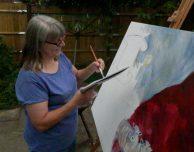 animal artist, sheep painting, Caroline Skinner