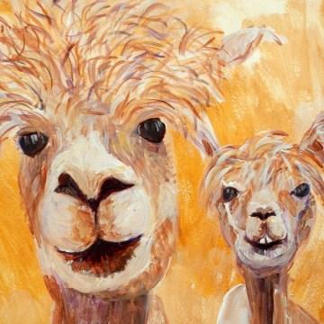 alpaca art, alpaca gift, llama gift, llama art