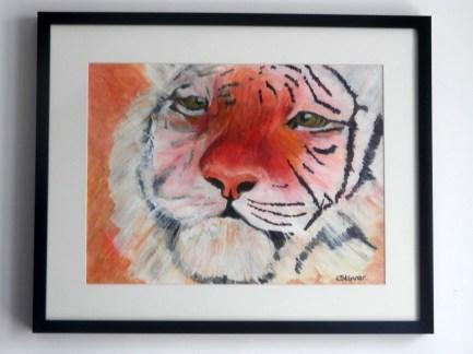 amur tiger painting, tiger gift, tiger art, tiger portrait