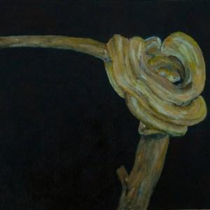 yellow adder snake, snake painting, reptile art