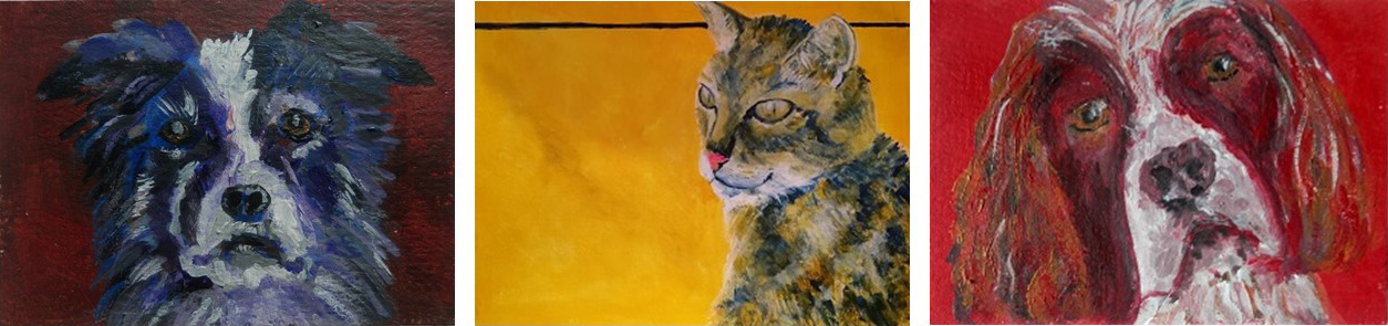 cat painting, dog painting, pet portraits