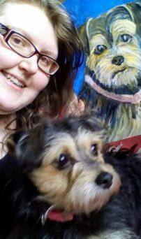 pet portrait, prize winner, yorkshire terrier