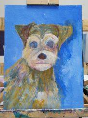 Pet portrait - work in progress 2