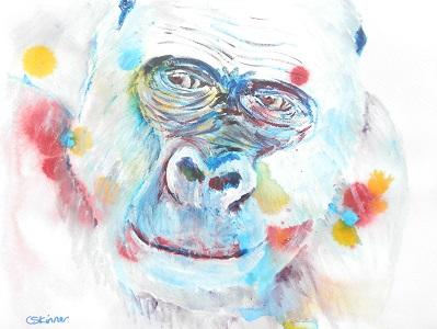 western lowland gorilla art, gorilla gift, wildlife print