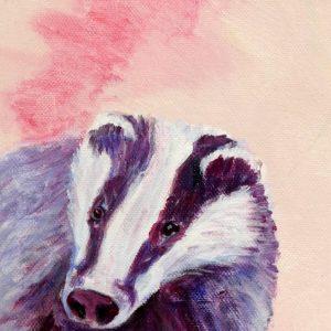 Pink badger print