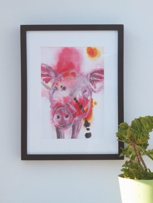 Red Pig Painting