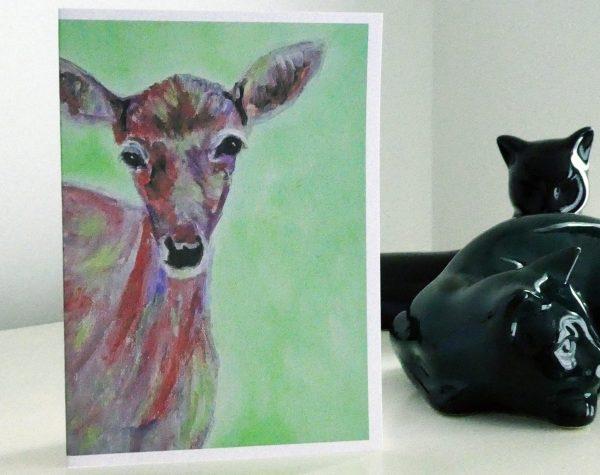 doe card, deer card, British Wildlife