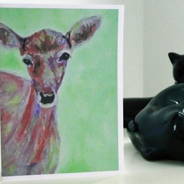 doe card, deer card, British Wildlife