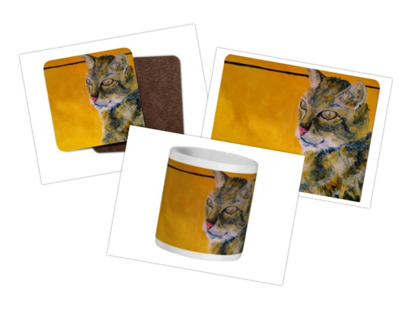 tabby cat tableware collection