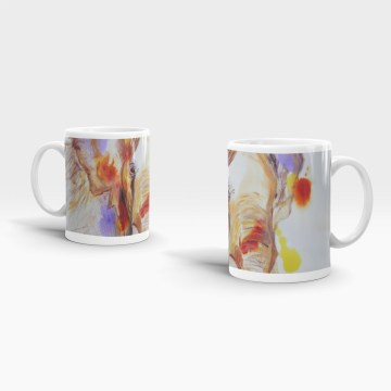 Colourful elephant 11 oz ceramic mug
