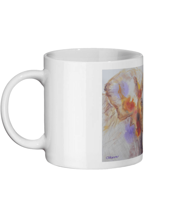 elephant mug, ceramic animal mug, wildlife mug, 11oz animal mug, white mug with elephant image, coffee drinker gift, teatime gift