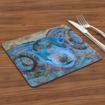 Blue ram placemat