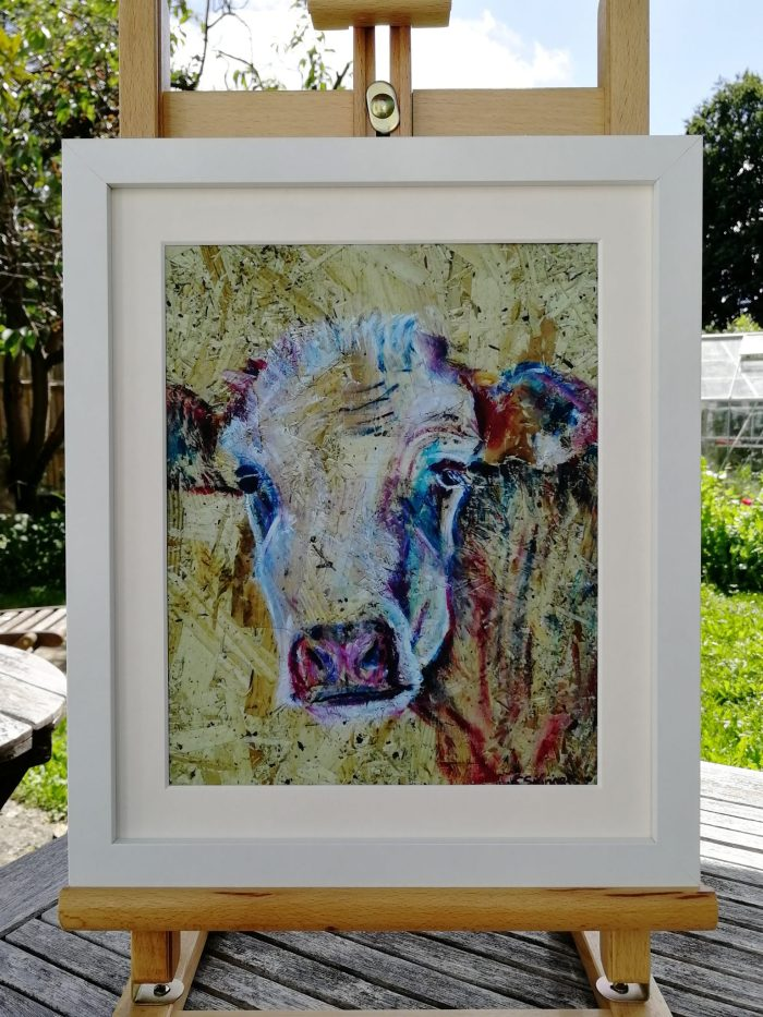 Rustic cow print
