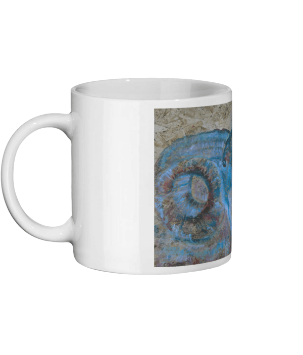 Blue Ram coffee lover gift, Scottish Blackface sheep mug, farm animal homeware