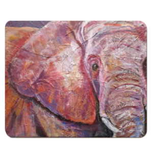 Glossy pink and purple elephant placemat