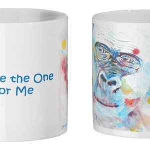 Blue gorilla mug