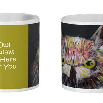 gorgeous owl mug