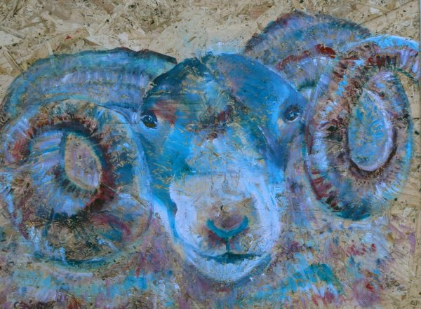 Blue ram glass cutting board