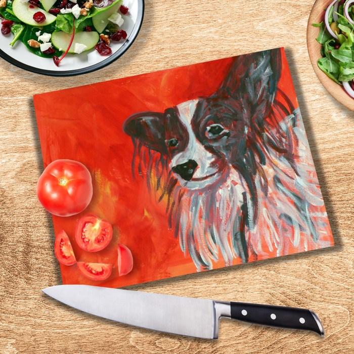 tempered glass dog cuttng board