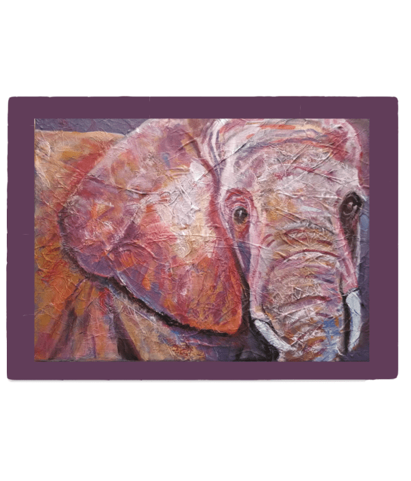 Gorgeous elephant gift, glass chopping board, gift for Mum, food server