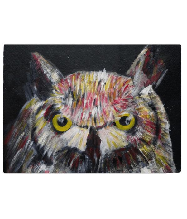Colourful owl cuttng board