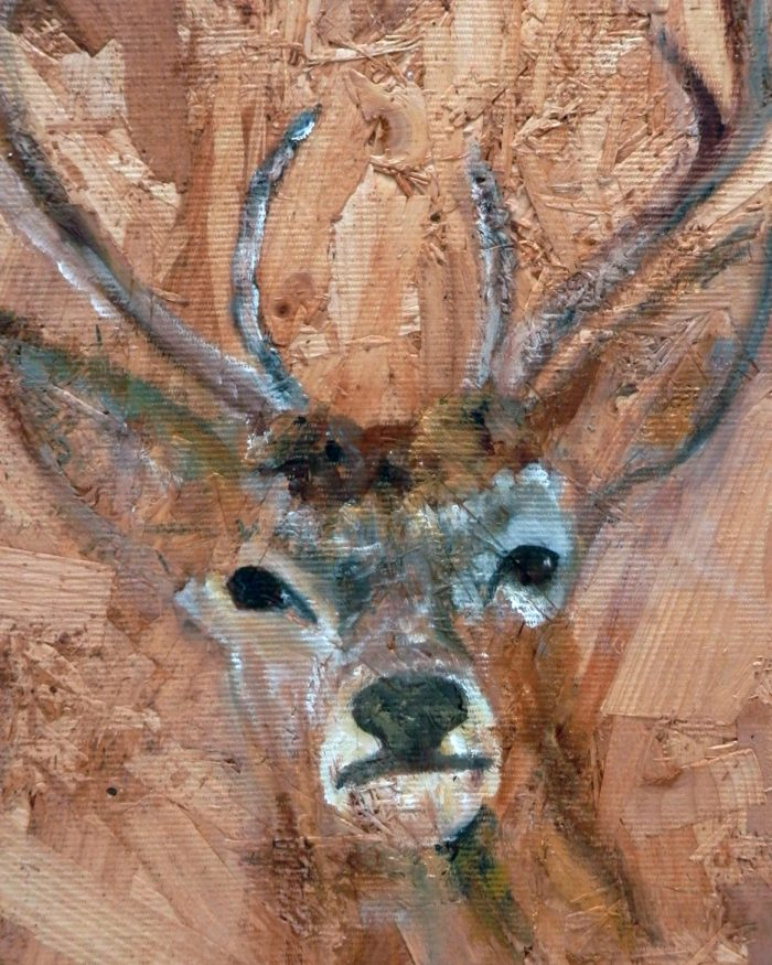 Stag art print with textured background