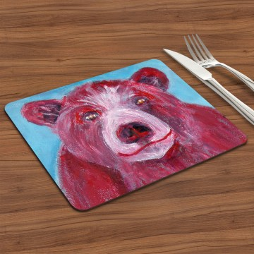 Cute Red Bear Placemat