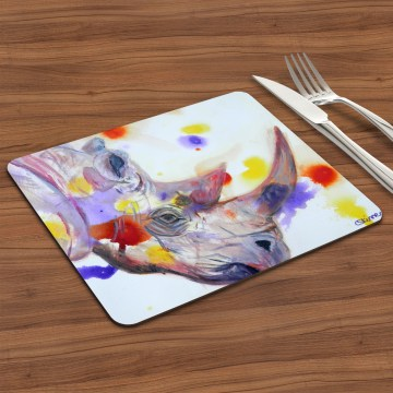 purple rhino glossy placemat