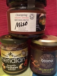 Nut butters and brown rice miso