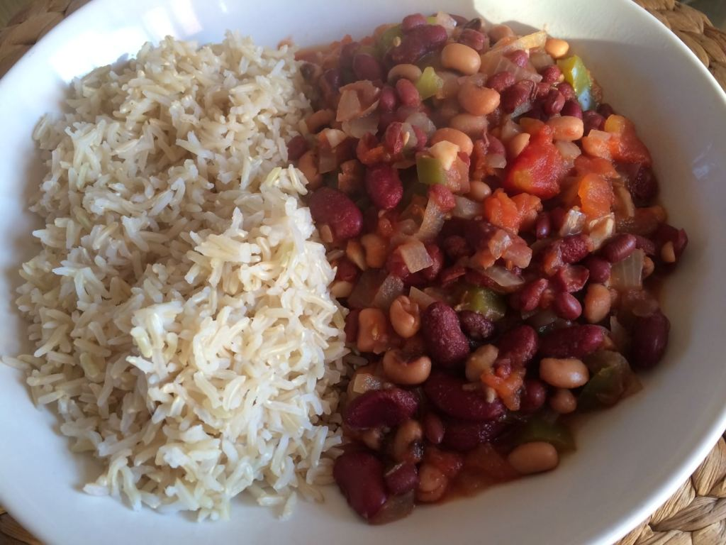 Plant based three bean chilli