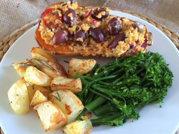 Stuffed Butternut Squash with Quinoa