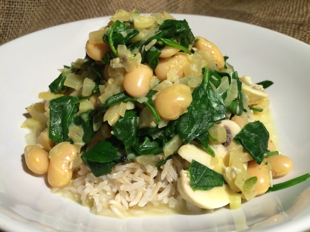 Mushroom and Butterbean Coconut Plant-Based Vegan Curry