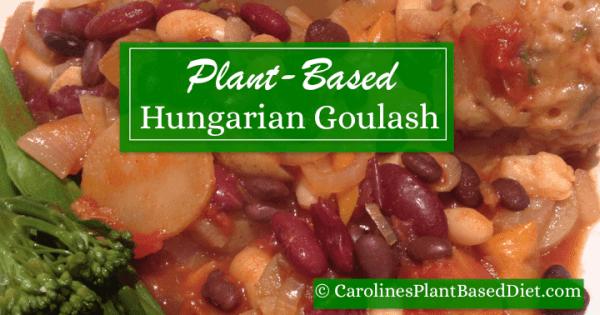 Plant-Based Hungarian Goulash with Herb Dumplings