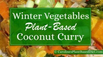 Winter Veg Coconut Curry with Brown Basmati Rice