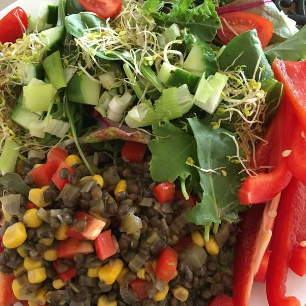 Warm Plant-Based Puy Lentil Salad