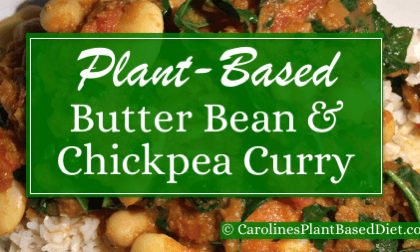 Plant-Based Butter Bean and chickpea curry.