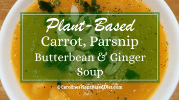 PB Carrot, parsnip, butterbean and ginger soup Sept 18