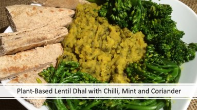 Plant-Based Lentil Dhal with Chilli, Mint and Coriander