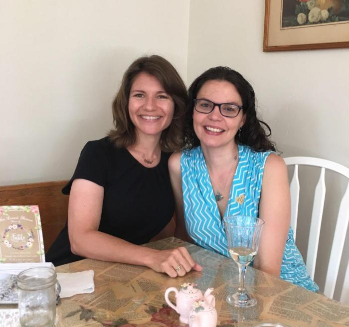 carrie and jamie at fable tea room