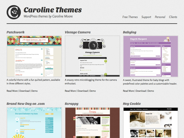 Caroline Themes - Responsive portfolio design