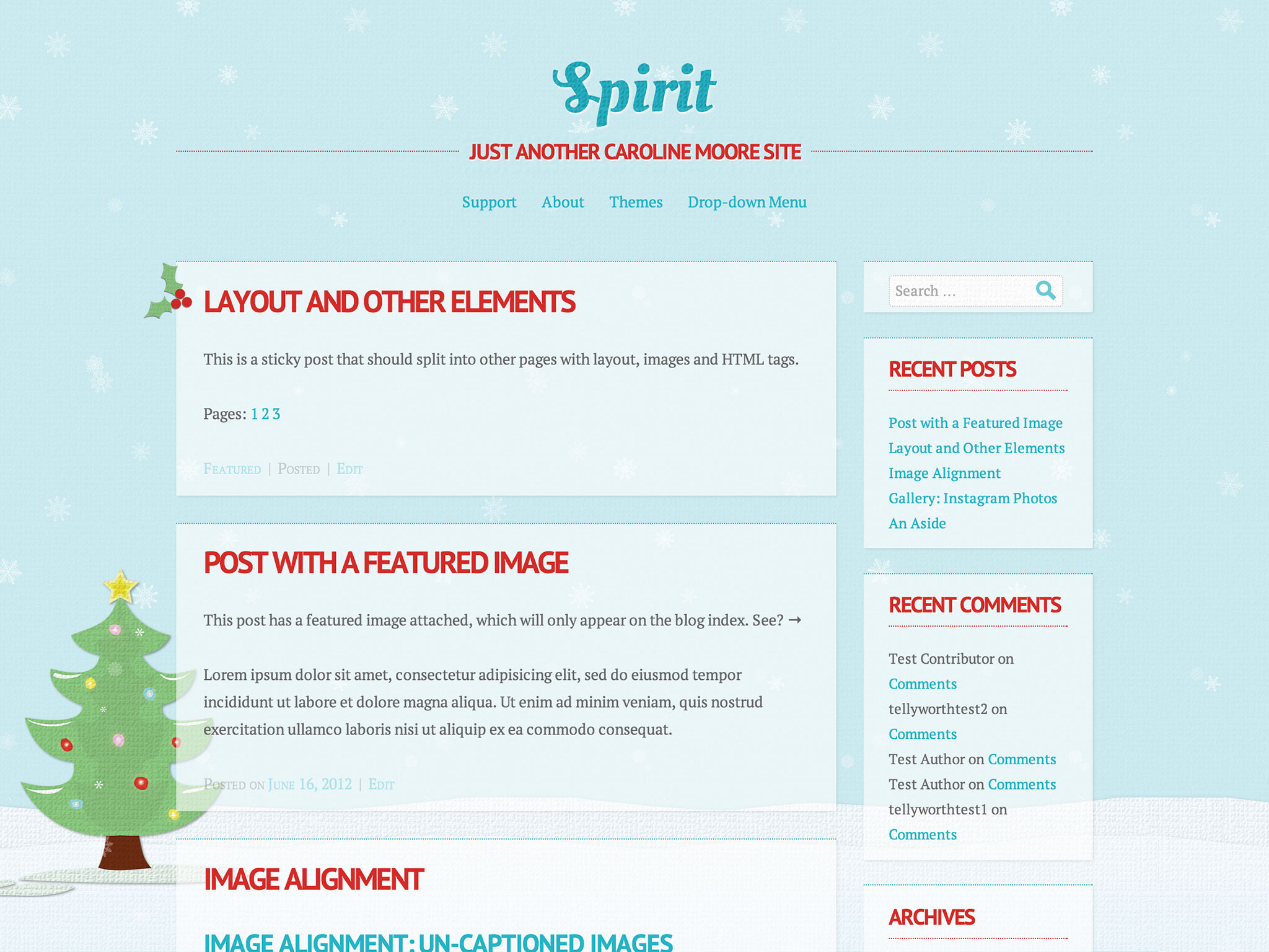 Spirit Holiday WordPress Theme