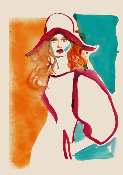 Fashion Illustration – Red Dress
