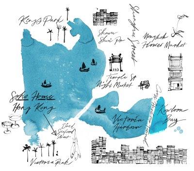 MAPS ILLUSTRATED –  SOHO HOUSE HONG KONG