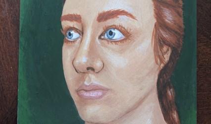 Philippa Dyvill – Egg Tempera Self Portrait