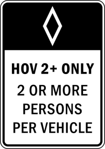 HOV sign