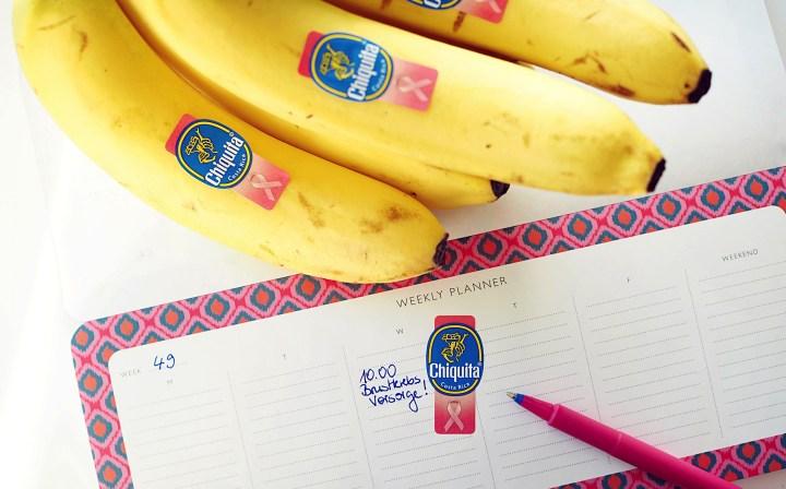 Brustkrebsvorsorge: Think pink mit Chiquita Bananen