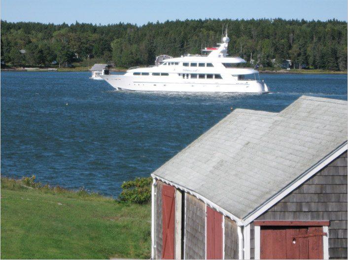 125' Nicole Evelyn Cheoy Lee yacht cruising Maine in New England